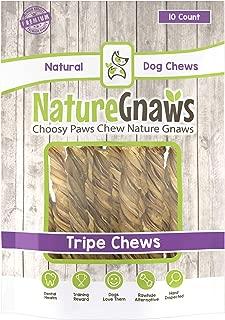 Nature Gnaws Tripe Twists - 100% Natural Beef Dog Chew Treats