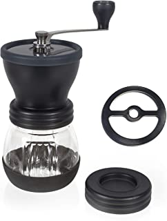 Premium Ceramic Burr Manual Coffee Grinder. Updated with installed Stabilizer Washer...