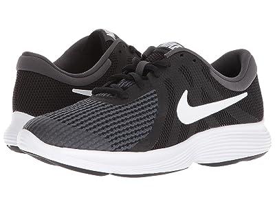 Nike Kids Revolution 4 Wide (Big Kid) (Black/White/Anthracite) Boys Shoes