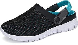 SAGUARO Zuecos y pantuflas unisex para mujer, sandalias de verano de malla, zapatillas de estar por casa para hombre, para...