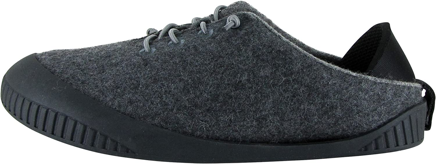 Dualyz Fit Unisex 100% Miami Mall Wool with Sole Removable Shoe Slipper Max 50% OFF