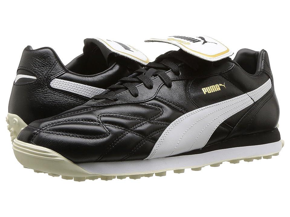 PUMA King Avanti Premium (Puma Black/Puma White/Whisper White/Puma Team Gold) Men