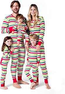 Little Blue House by Hatley Women's Holiday Stripes Family Union Suits