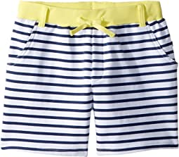 Navy White Stripe French Terry Camp Shorts (Toddler/Little Kids/Big Kids)