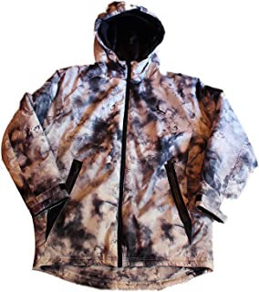Jordan Big Boys Camo Puffer Jacket, Medium (10?/ 12、ホワイト/ブラック