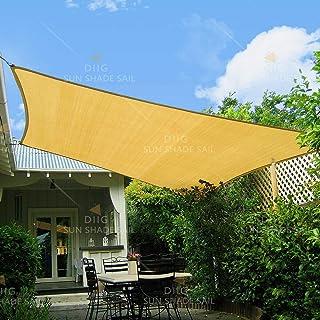 diig Patio Sun Shade Sail Canopy, 8' x 10' Rectangle Shade Cloth Block Sunshade..