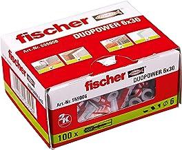 fischer DUOPOWER 55006 Universele pluggen voor het bevestigen van hangkasten, wandplanken in beton, metselwerk en plaatbou...
