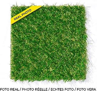 Leoturf LEO30 Césped artificial Premium de alta calidad/Altura 30mm/Confección 100% Europea/Combinación de hilos de 4 colores TENCATE GRASS/Rollo de 1M X 5M