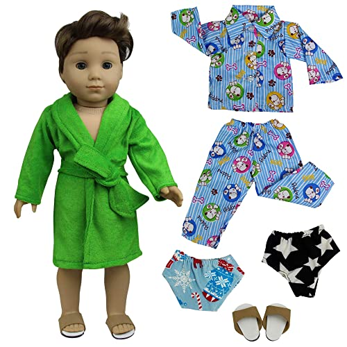 Football Pajamas for American Girl Boy Dolls