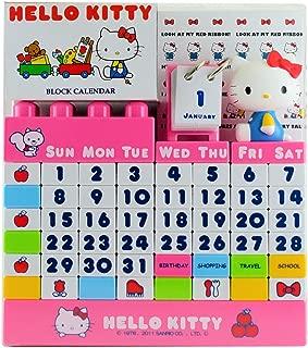 Hello Kitty Figure Block Desk Calendar Red ( Many Years ) Sanrio Japan