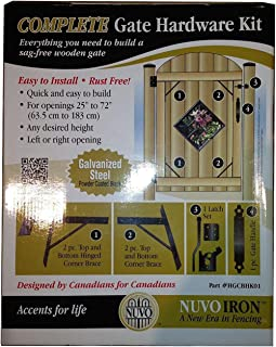 NUVO IRON COMPLETE GATE HARDWARE KIT HEAVY DUTY HGCBHK01 for 25