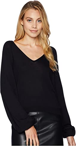 Curved Neck Crop Sweater