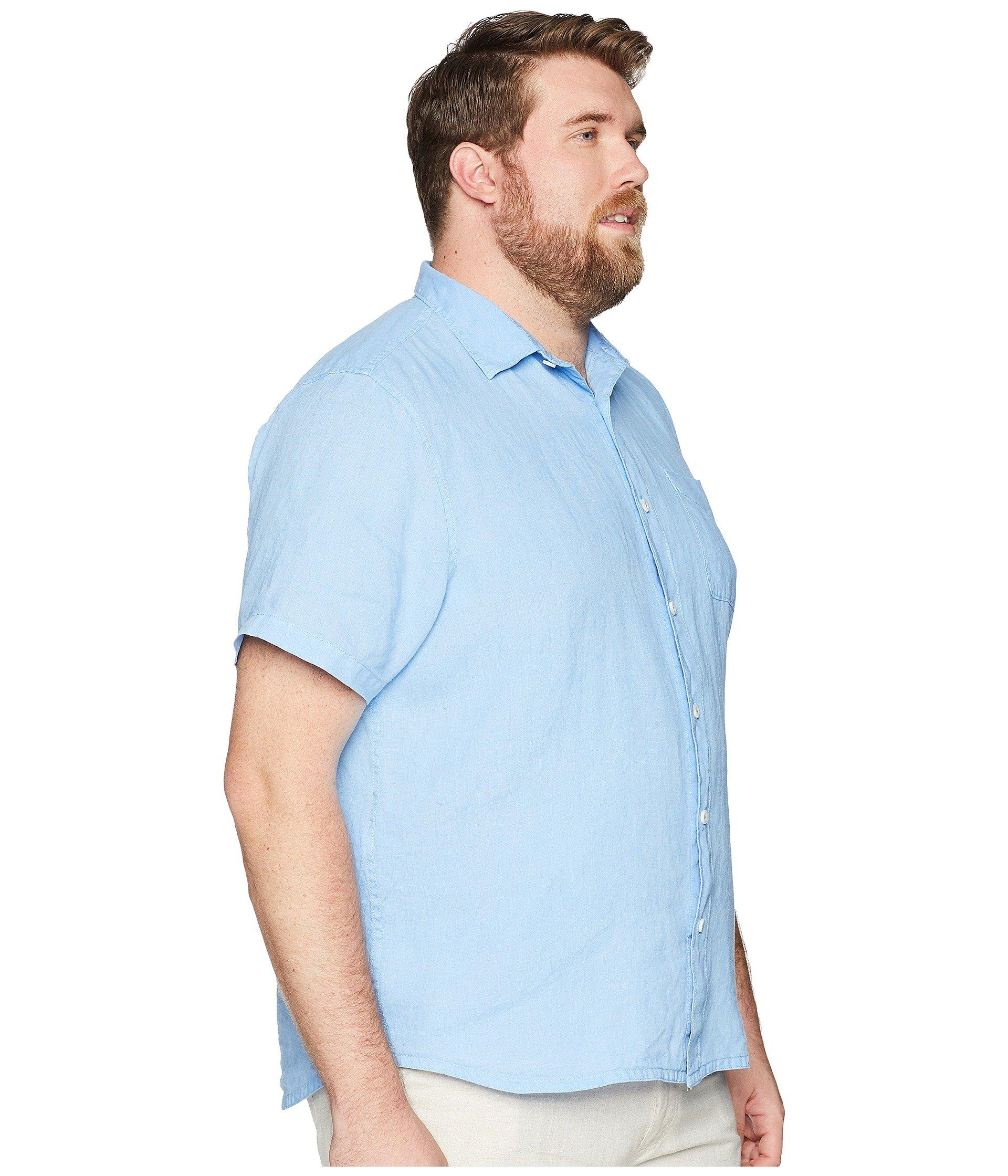 Tommy Bahama Breezer Short Tall Blue Sleeve Shirt Glass amp; Big Sea Yonde rwrZdxHp