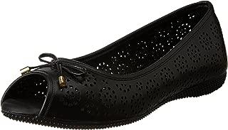 Scholl Women's Laser Peep Toe Leather Pumps