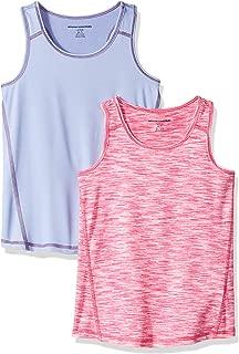 Amazon Essentials Girls' 2-Pack Active Tank
