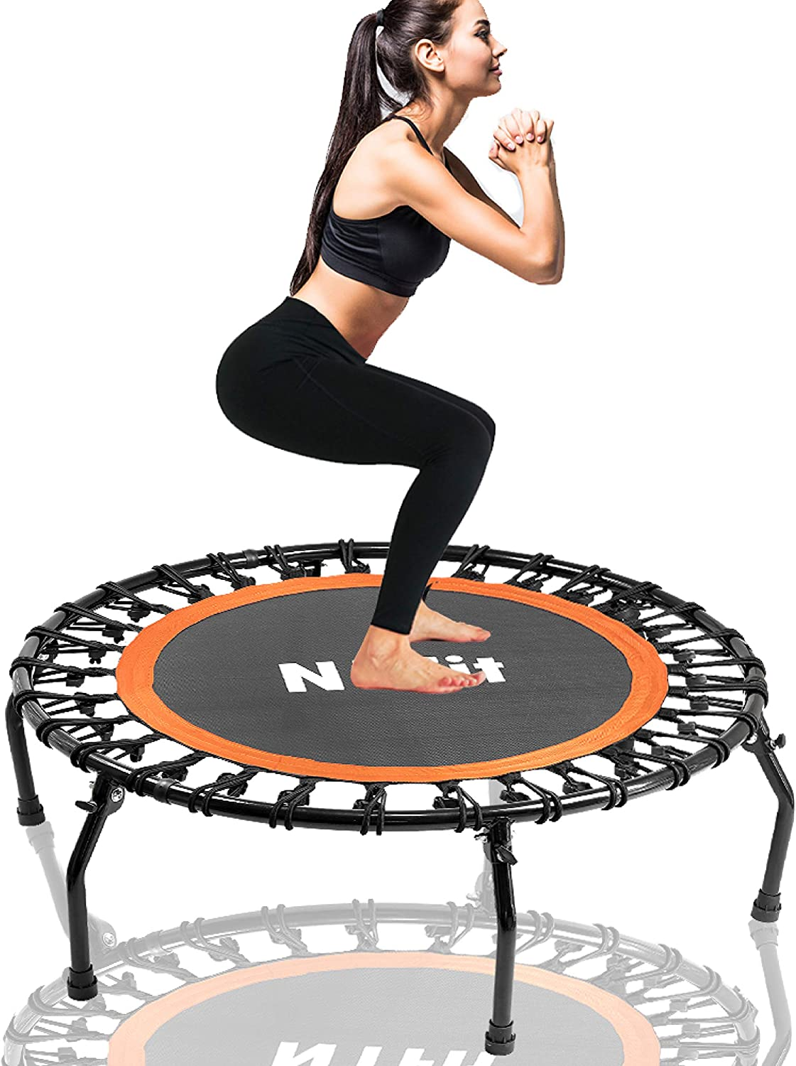Limited time trial price N1Fit Rebounders Quantity limited Mini Trampolines for Adults Fitness Trampo 40