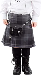 Kilt Society Boys Persevere Flint Grey Tartan Scottish Highland Kilt