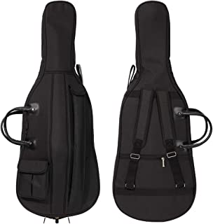 MI&VI Soft Case Cello Bag - Double Stitched, 12mm Thick Padded, Sturdy Waterproof Backpack w/Adjustable Carrying Straps, H...