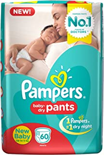 Pampers New Diapers Pants, X-Small (60 Count)
