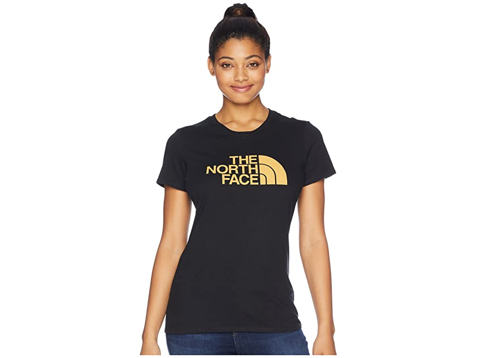 The North Face Short Sleeve 1/2 Dome Tee (TNF Black/Amber) Women