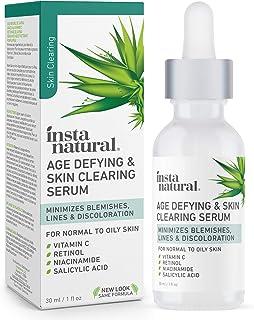 Best InstaNatural Vitamin C Anti Aging Skin Clearing Serum - Wrinkle, Fine Line, Pigmentation, Pore Minimizer & Dark Spot Corrector for Face - Retinol, Hyaluronic, & Salicylic Acid - 1oz Review