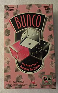 CARDINAL INDUSTRIES, Bunco Social Dice Game Complete Set,pink & black