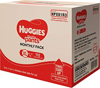 Huggies Wonder Pants, Monthly Box Pack Diapers, Extra Large (XL) Size, 112 Count