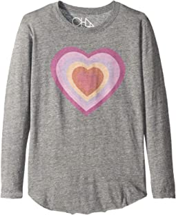 Super Soft Long Sleeve Big Heart Tee (Little Kids/Big Kids)