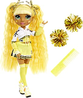 Rainbow High Cheer Sunny Madison – Yellow Cheerleader Fashion Doll with Pom Poms and Doll Accessories, Great Gift for Kids...