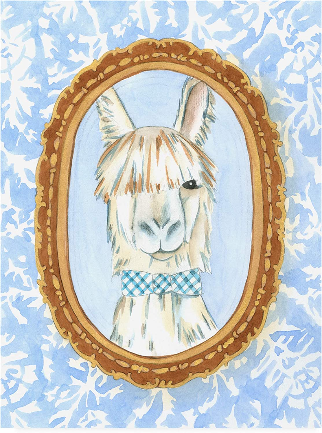 Trademark Fine Art WAG16412C1419GG Teachers Pet Llama by Chariklia Zarris, 14x19