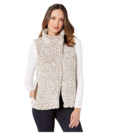 Dylan by True Grit Frosty Tipped Pile Cozy Vest w/ Knit Lining (Brown) Women