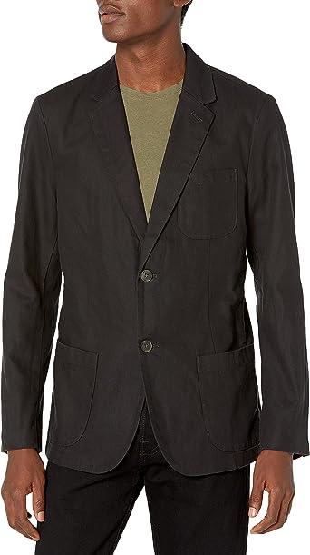 Marca Amazon - Goodthreads - Americana de lino de corte ajustado para hombre