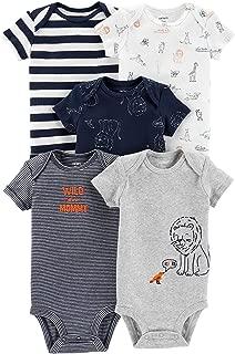 Carter's Baby Boys 5-Pack Original Short Sleeve Bodysuits (Lion)