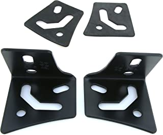 GS Power's A-Pillar Windshield Hinge Mount Brackets (2 pc) for Mounting Auxiliary Off-Road LED, HID, or Halogen Fog and Work Lights. Compatible with 1997-2018 Jeep Wrangler TJ & JK