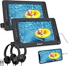 "NAVISKAUTO 10.5"" Dual Screen Portable DVD Player for Car with HDMI Input, Headrest.."