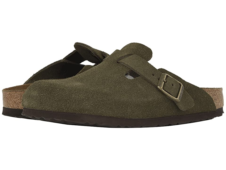 Birkenstock Boston Soft Footbed (Unisex) (Forest Suede) Clog Shoes