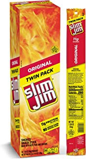 Slim Jim Smoked Snack Sticks Twin Pack, Original, Packed with Protein, 1.94-Ounce,Mild, Count of 24