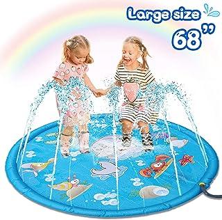 Sunshine smile Juego Splash Pad Almohadilla de aspersión niños al Aire Libre Splash Pad Aspersor de Juego Jardín Aspersor Inflable