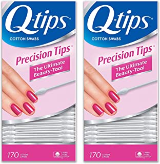 Q-tips Cotton Swabs, Precision Tips, 170 ea - 2pc