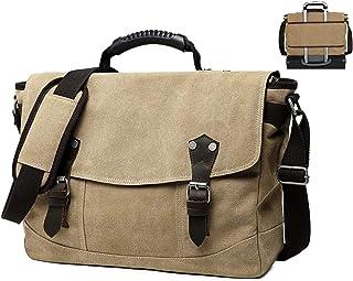 Scioltoo Laptop Messenger Bag Retro Canvas Waterproof Hiking Shoulder Bag