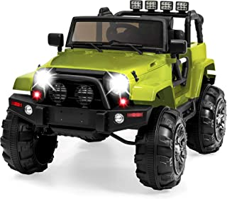 Best Choice Products Kids 12V Ride-On Truck w/ Remote Control, 3 Speeds, LED Lights, AUX, Green
