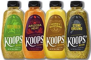 Koops' Fan Favorites Mustard Variety Pack, 12 oz. Bottle, 4-Pack