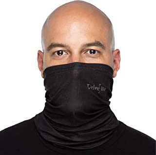 Debrief Me Anti Slip Welded Edge Lightweight Breathable Neck Gaiter Mask for Face Protection from Sun Dust, Germ -Neck Balaclava Face Bandana Sport Scarf for Hiking Running Fishing Motorcycling