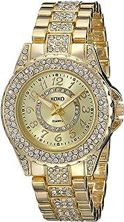 XOXO Women's XO5747 Analog Display Analog Quartz Gold-Tone Watch