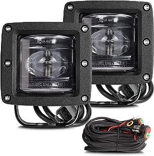 SAE Fog Lights LED Pods Teochew-LED 2 Pack 40W 3 Inch Cube Lights LED Light Pods SAE/DOT Approved LED Driving Light OSRAM Off Road Light Bar for Trucks, Jeep, Tractors, ATV, UTV, 2 Years Warranty
