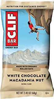 CLIF BAR - Energy Bars - White Chocolate Macadamia Nut Flavor - (2.4 Ounce Protein Bars, 18 Count) (Packaging May Vary)