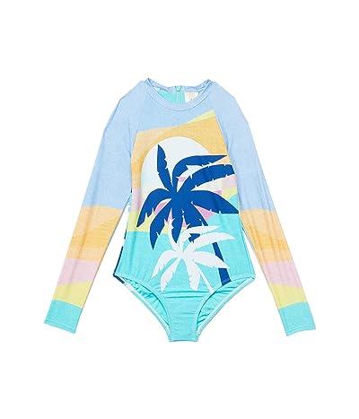 Hobie Kids Hanalei Bay Long Sleeve One-Piece Swimsuit (Big Kid)
