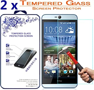 2X Glass Screen Protector for HTC Desire 826 / 826W [2 Pack] Ballistic Tempered Glass Screen Protector ([2 Pack] for HTC Desire 826 / 826W)