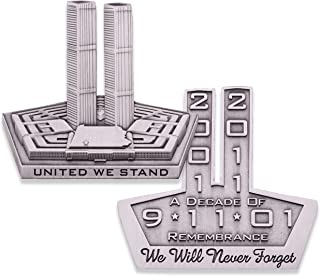 9-11 United We Stand Commemorative Challenge Coin! Never Forget September 11th 2001. Limited Challenge Coin Huge 2.5