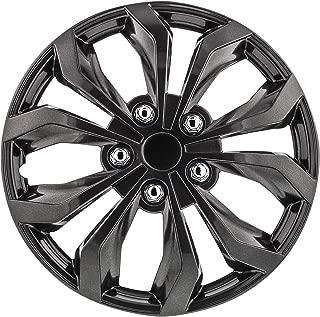 Pilot Automotive WH555-17GM-B Spyder/Gunmetal Grey 17 Inch Performance 17 in. Wheel Covers, 4